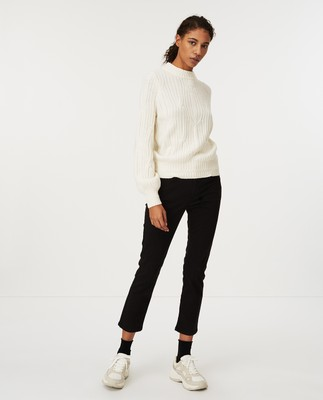 Trista Cable Sweater, White
