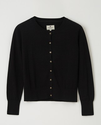 Daniella Cotton/Cashmere Cardigan, Black