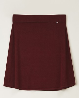 Chastity Knitted Cotton/Bamboo Skirt, Dark Red