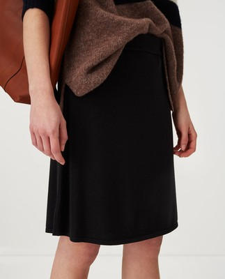 Chastity Knitted Cotton/Bamboo Skirt, Black