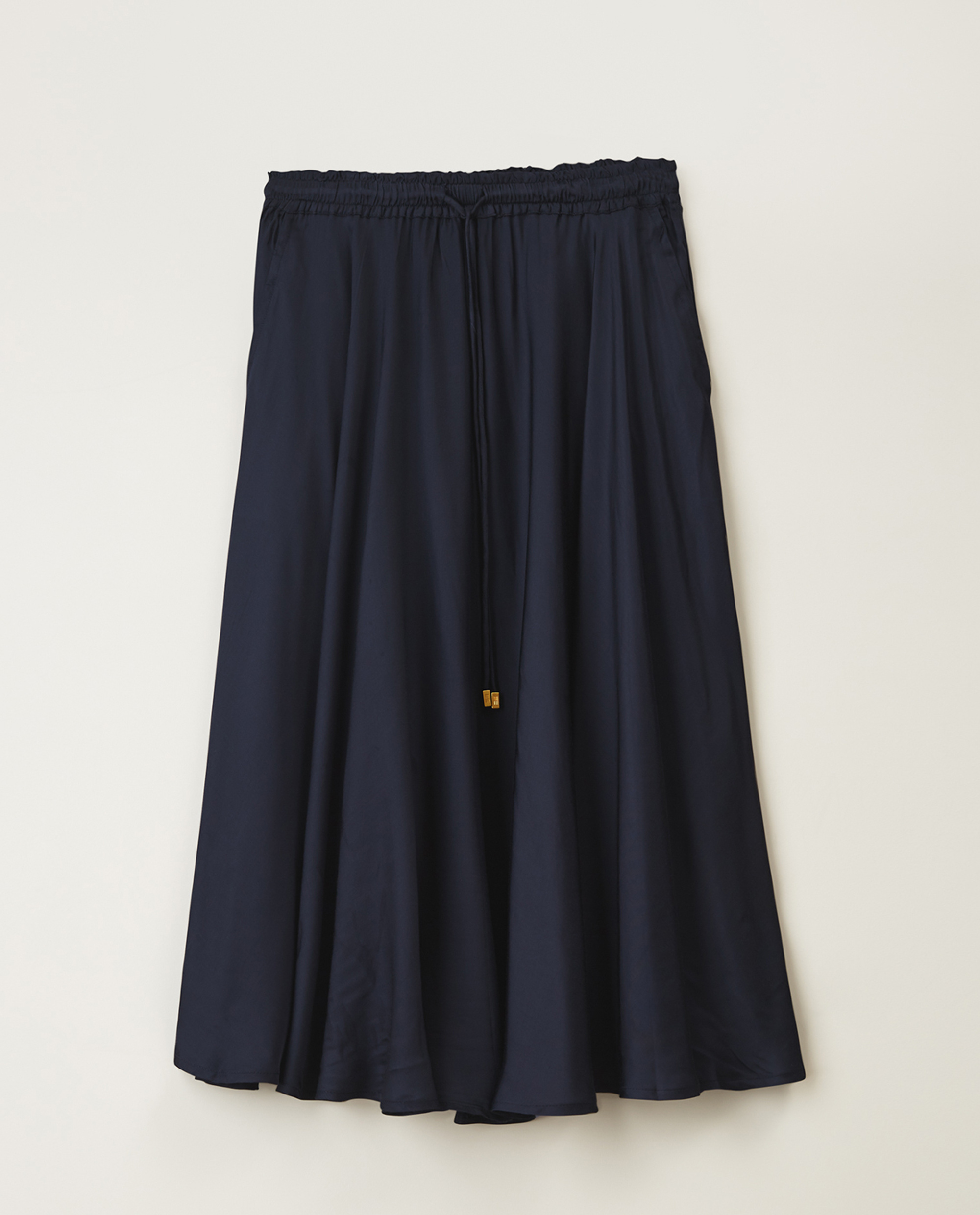 Della Satin Skirt, Dark Blue