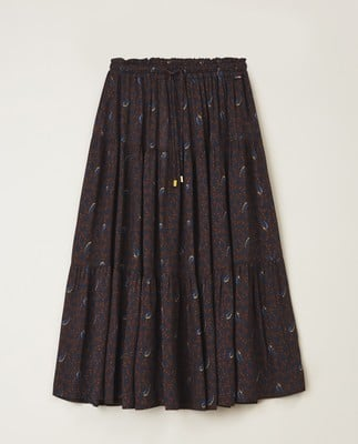 Evelyn Skirt, Feather Print