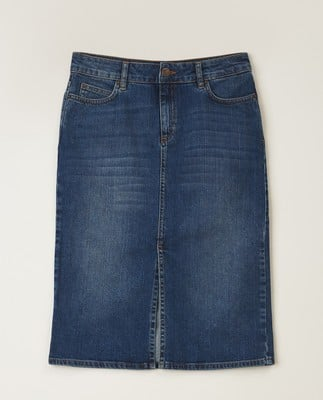 Millie Denim Skirt, Medium Blue