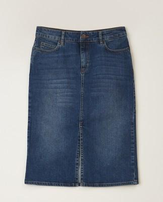Millie Denim Skirt, Medium Blue