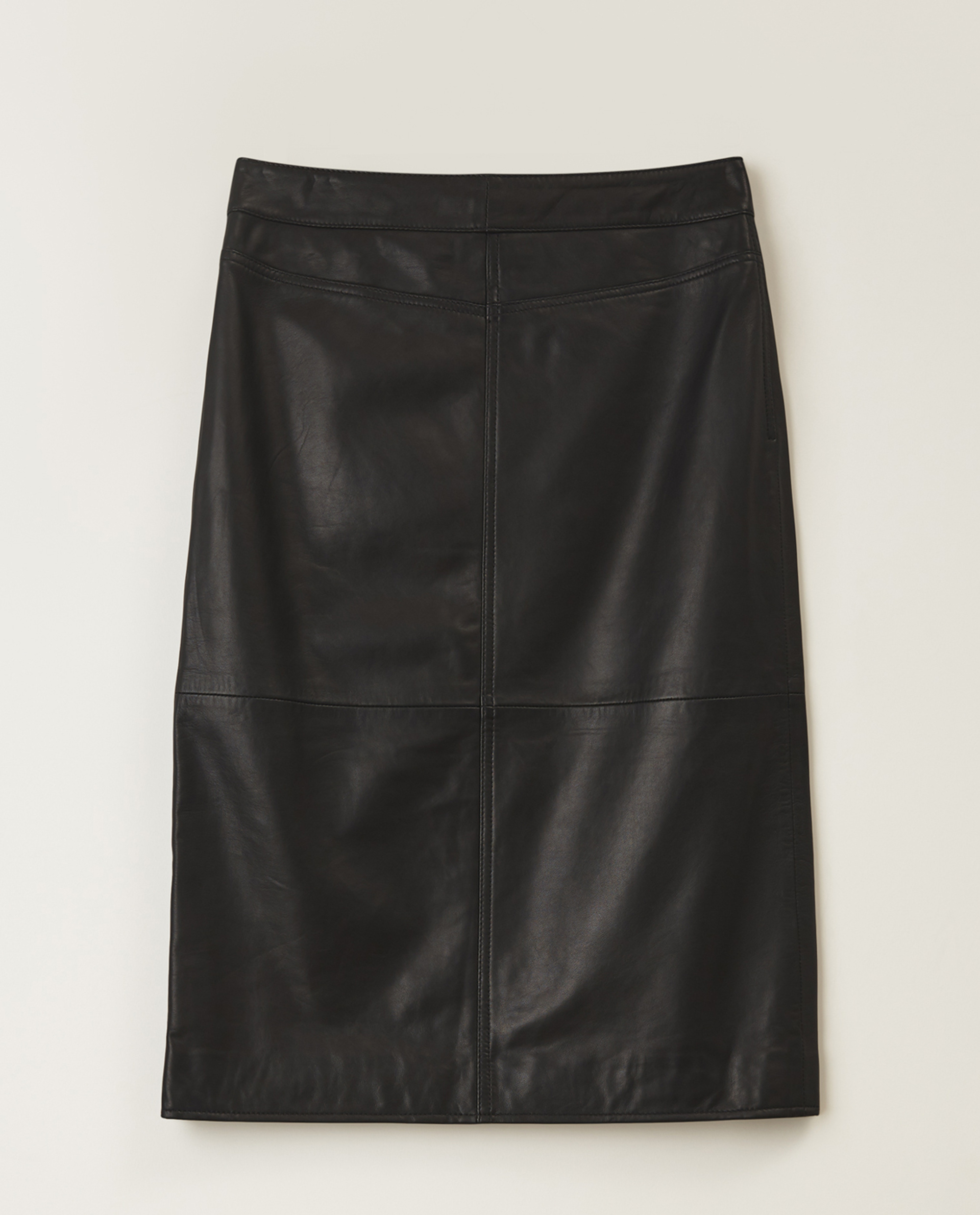Millie Leather Skirt, Black