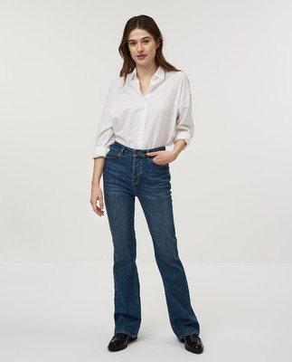 Shelley Bootcut Jeans, Medium Blue