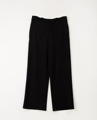 Cleo Tailored Jersey Pants, Black