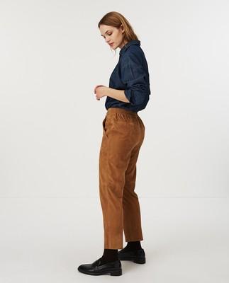 Olivia Suede Pants, Beige
