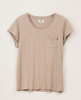 Ashley Jersey Tee, Beige Melange