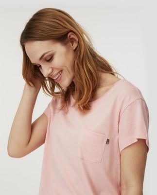 Ashley Jersey Tee, Pink