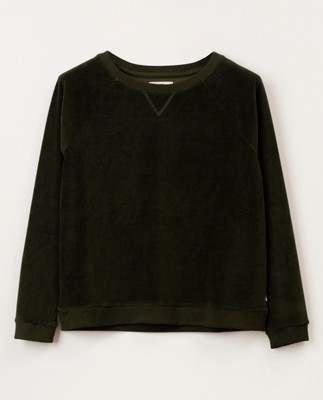 Martha Velour Sweatshirt, Green