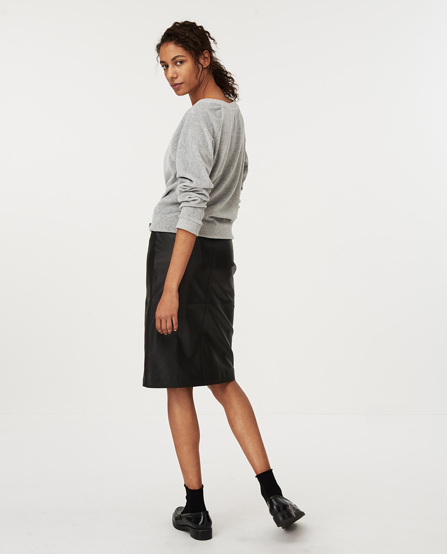 Martha Velour Sweatshirt, Gray Melange