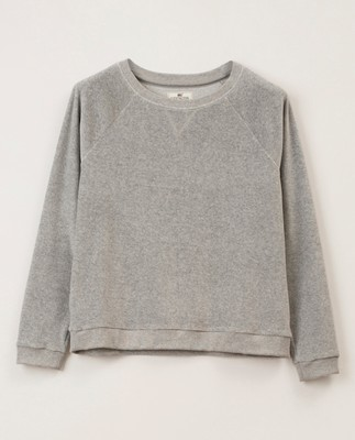 Martha Velour Sweatshirt, Gray Melange