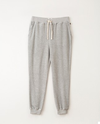 Minnie Velour Pants, Gray Melange