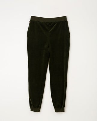Minnie Velour Pants, Green