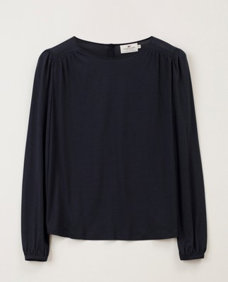 Lilja Jersey Blouse, Dark Blue