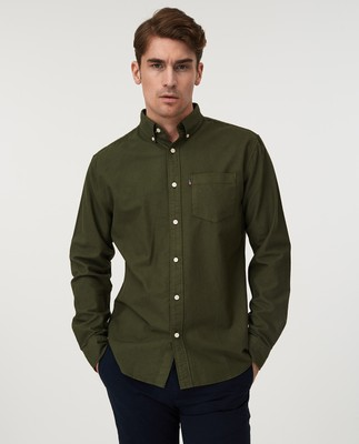 Kyle Oxford Organic Cotton Shirt, Green