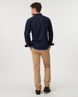 Kyle Oxford Organic Cotton Shirt, Dark Blue