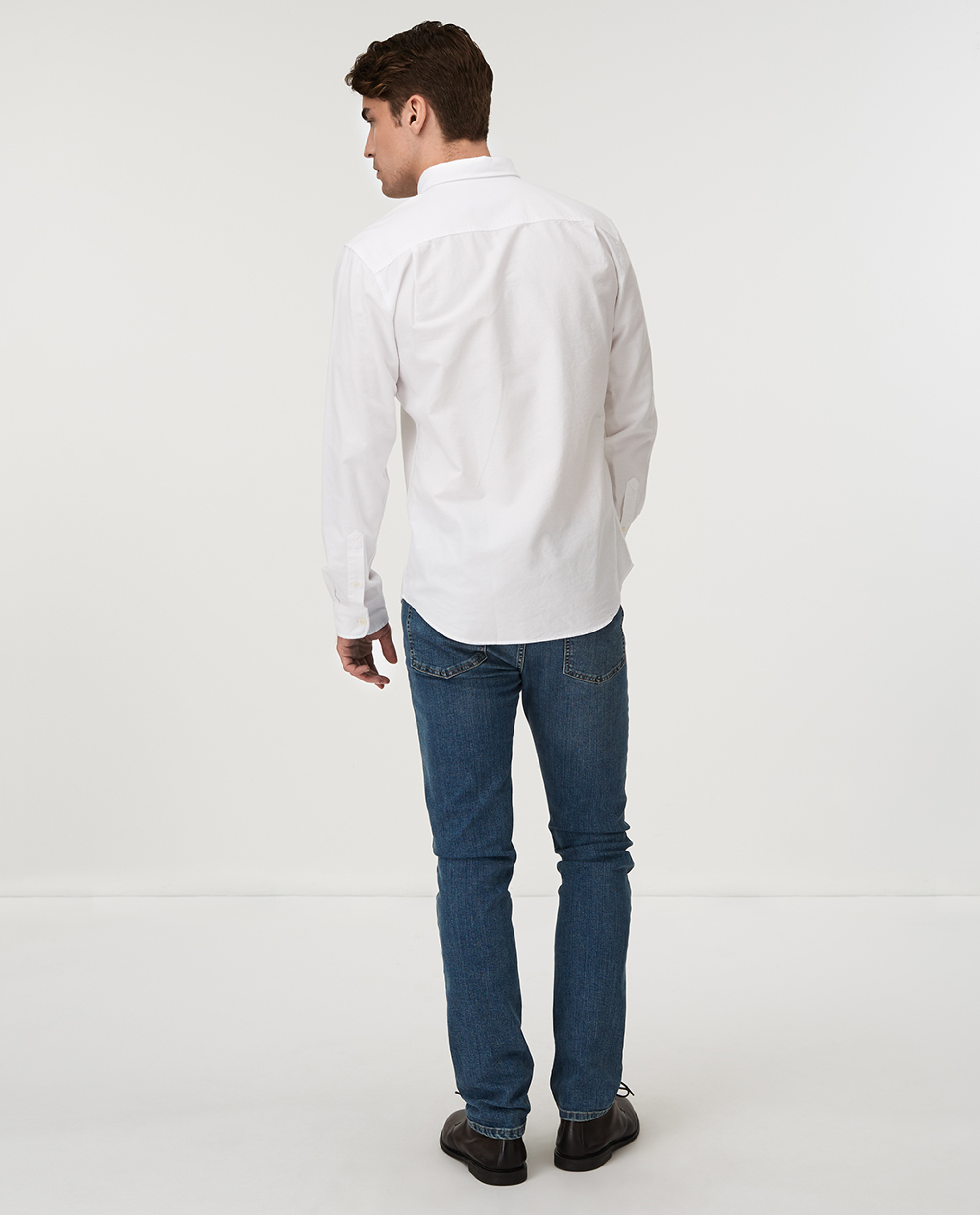 Marc Oxford Stretch Shirt, White
