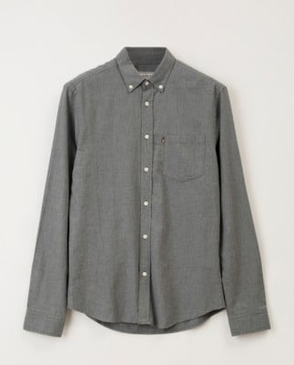 Peter Lt Flannel Shirt, Gray Melange