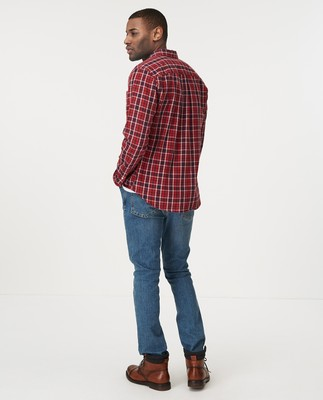 Peter Lt Flannel Shirt, Red Multi Check