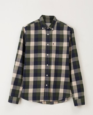 Peter Lt Flannel Shirt, Green Multi Check