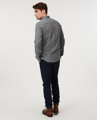 Peter Lt Flannel Shirt, Gray Melange