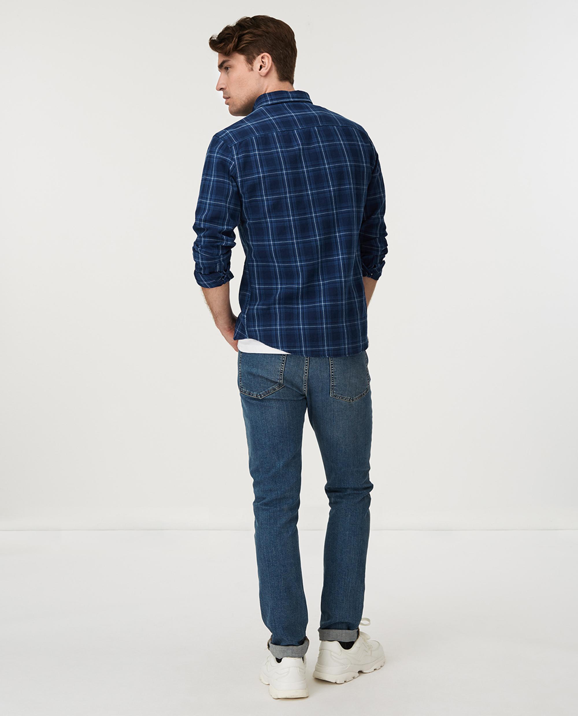 Clive Checked Shirt, Blue Indigo Check