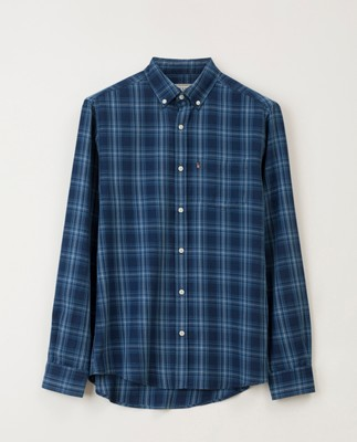 Clive Checked Shirt, Blue Indigo Check