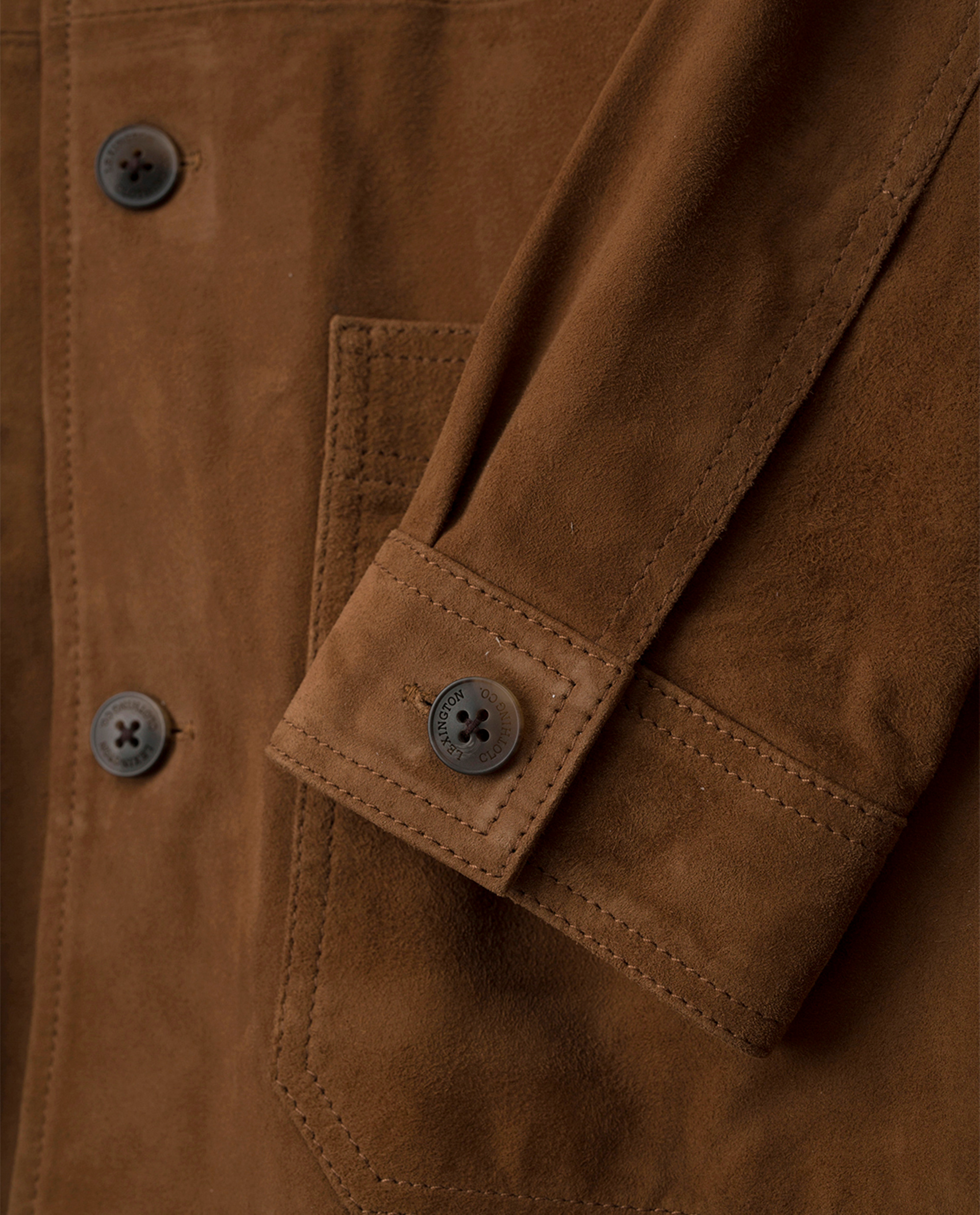 Robert Suede Worker Shirt, Cognac