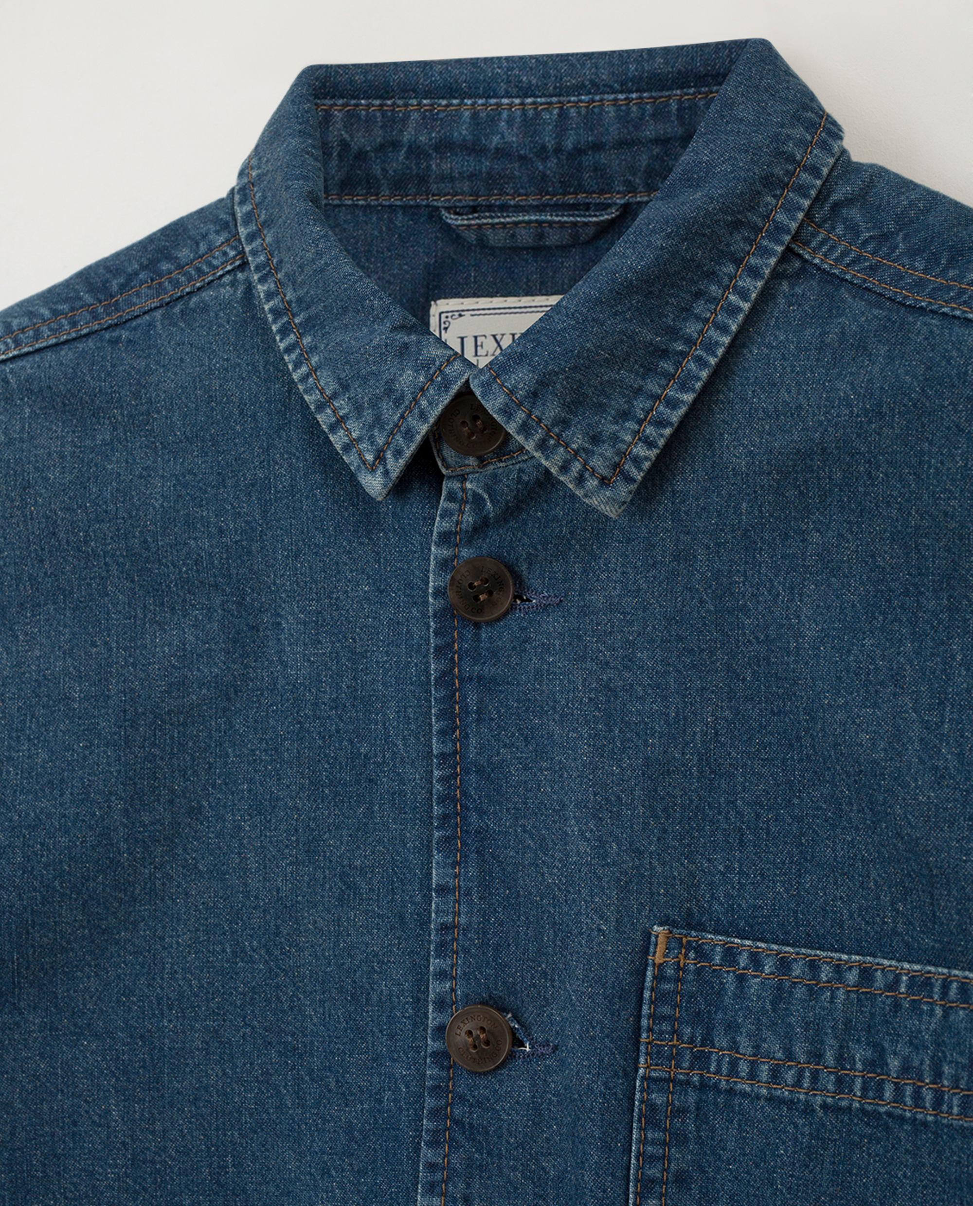 Robert Denim Worker Shirt, Medium Blue
