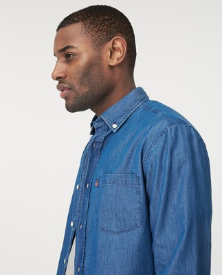 Clive Indigo Shirt, Medium Blue Denim