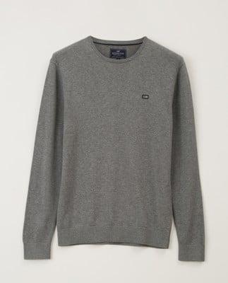 Bradley Crew Neck Sweater, Gray Melange