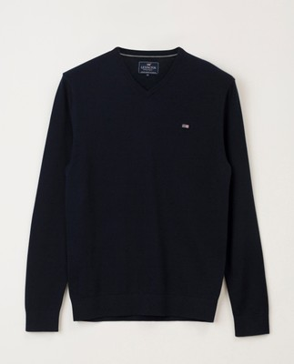 Allen V-Neck Sweater, Black