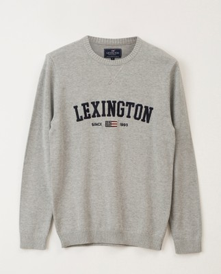 Nelson Knitted Sweatshirt, Gray Melange