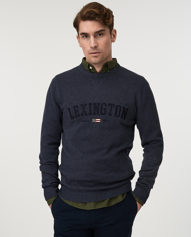 Nelson Knitted Sweatshirt, Blue Melange