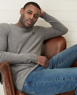 Hank Crew Neck Sweater, Gray Melange