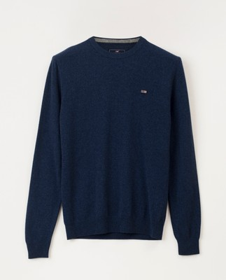 Hank Crew Neck Sweater, Blue Melange