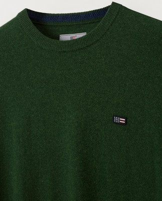 Hank Crew Neck Sweater, Green