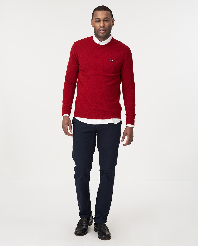 Hank Crew Neck Sweater, Red