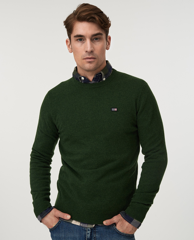 Hank Crew Neck Sweater, Green
