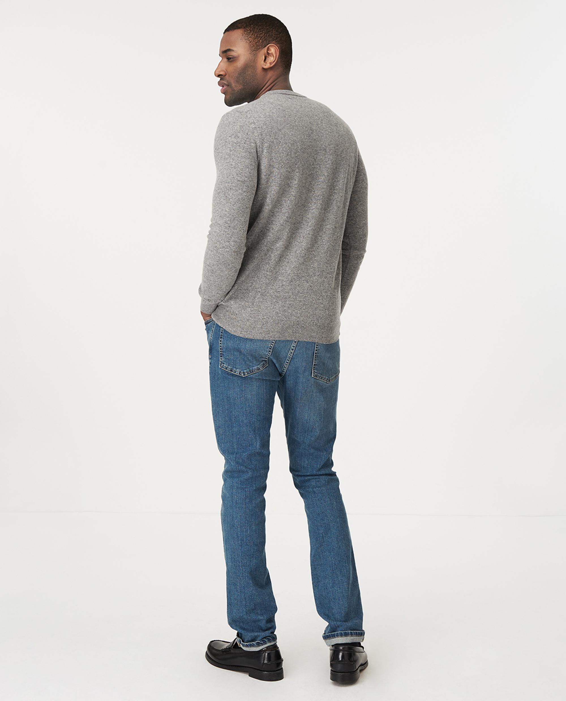 Hank Crew Neck Sweater, Gray Melange