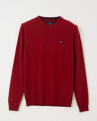 Hank Crew Neck Sweater, Red