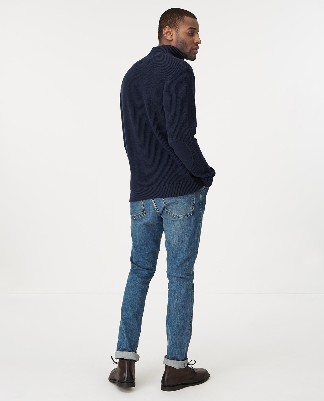 Vinnie Half Zip Sweater, Dark Blue