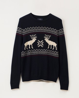 Jim Holiday Sweater, Dark Blue