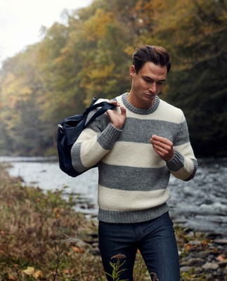 Rufus Sweater, Gray/White Stripe