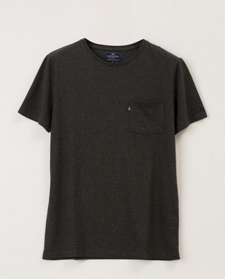 Travis Tee, Dark Gray Melange