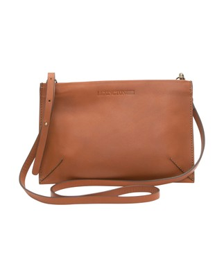 Wingfield Leather Zip Bag, Light Cognac