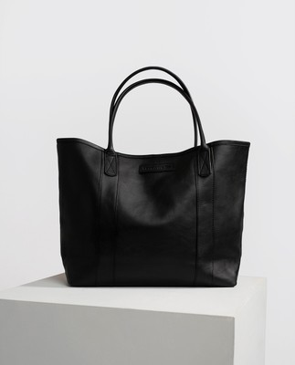 Mayflower Leather Tote Bag, Black