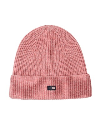 Stockton Wool Beanie, Pink Melange